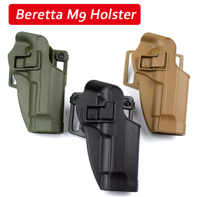 Tactical Gear Beretta M9 92 96 92fs Hand Gun Waist Holster Military Pistol Case Belt Holster Paintball Airsoft Pistol Holsters glock17 quick release gun pistol holster black