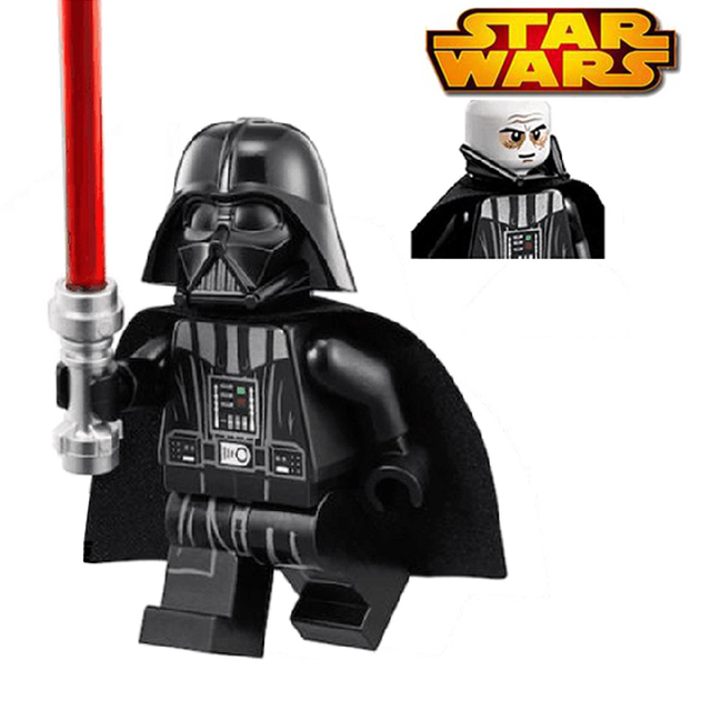 Darth Vader With Red Lightsaber Building Blocks Children Toy