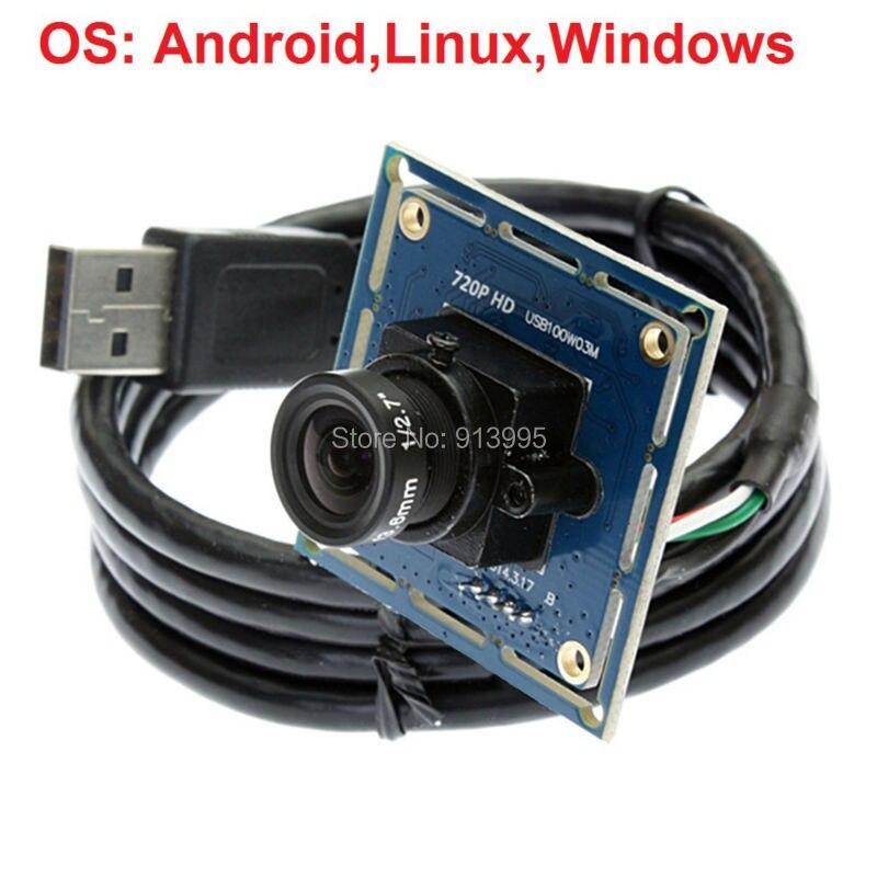 bilder für HD 720 p OV9712 Mjpeg/YUY2 2,1mm weitwinkelobjektiv uvc micro mini maschine vision cmos usb kamera modul für Andriod
