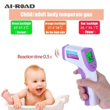 Non-Contact Baby  Adult Thermometer Laser LCD Backlight IR Infrared Thermometer Digital Pyrometer Forhead Temperature Meter цена