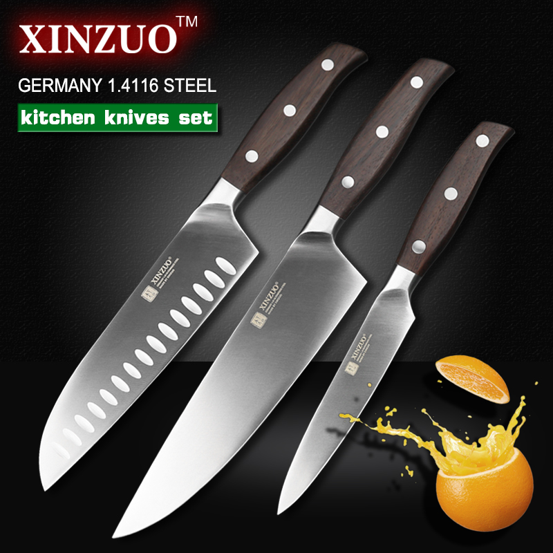 XINZUO kitchen tools 3 PCs kitchen font b knife b font set utility Chef font b