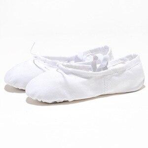Image 4 - USHINE EU22 45 Cloth Head Yoga Slippers Teacher Gym Indoor Exercise Canvas Black Ballet Dance Shoes Children Kids Girls Woman
