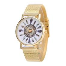 1PC Fashion Women watch Gold Stainless Steel Analog Quartz Wrist classic delicate new Watch relogio feminino Dropshipping NMB20