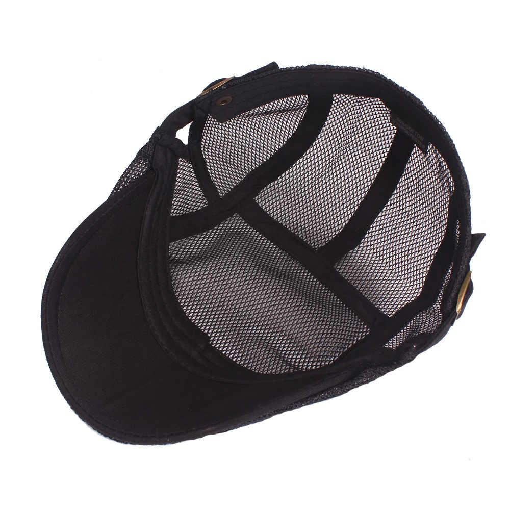 a8ae31b2e8f6e ... RoxCober Summer Men Women Gatsby Hat Casual Berets Hat Ivy Flat Cap Cabbie  Newsboy Cap Breathable ...
