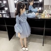 7dd1fc23e 2019 New Spring Autumn Toddler Girl Lace Mesh Dress Kids Embroidery Princess  Dresses For Girls Baby