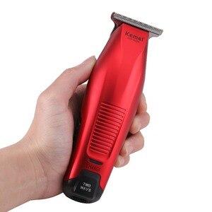 Image 4 - Kemei Professional Hair Clipper Cordless 0mm Baldheaded Hair Beard Trimmer Precision Modelling DIY Hair Cutter Haircut Machine