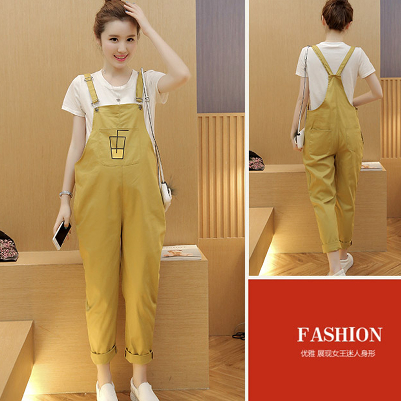 Plus Size 2XL Overalls Pregnancy Long Pants Clothes Trousers Maternity Pants Size Nine Pants Loose Overall Trousers YL210 high waist jeans women plus size femme stretch slim loose large size jeans pants 2017 casual ankle length haren pants trousers page 6
