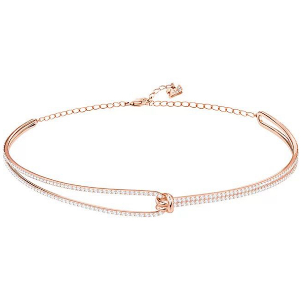 2018 New Charming Lady Twisted Design Temperament Bracelet Female Jewelry Rose Gold Wrist Ornament Suitable Ball Wedding Gift2018 New Charming Lady Twisted Design Temperament Bracelet Female Jewelry Rose Gold Wrist Ornament Suitable Ball Wedding Gift