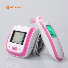BOXYM цифровой наручные приборы для измерения артериального давления мониторы Автоматический Сфигмоманометр инфракрасный ушной термометр тонометр детский градусник тонометр на запястье термометр цифровой манометр