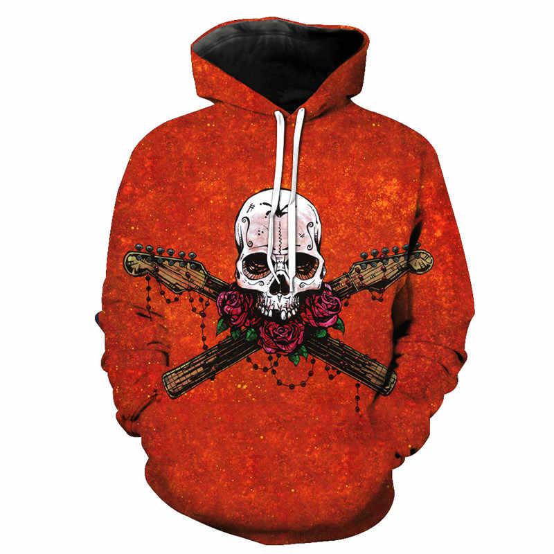 Cloudstyle kafatasları Hoodies sıcak satış kapüşonlu Sweatshirt Streetwear stil kazak artı boyutu spor 3d eşofman artı boyutu