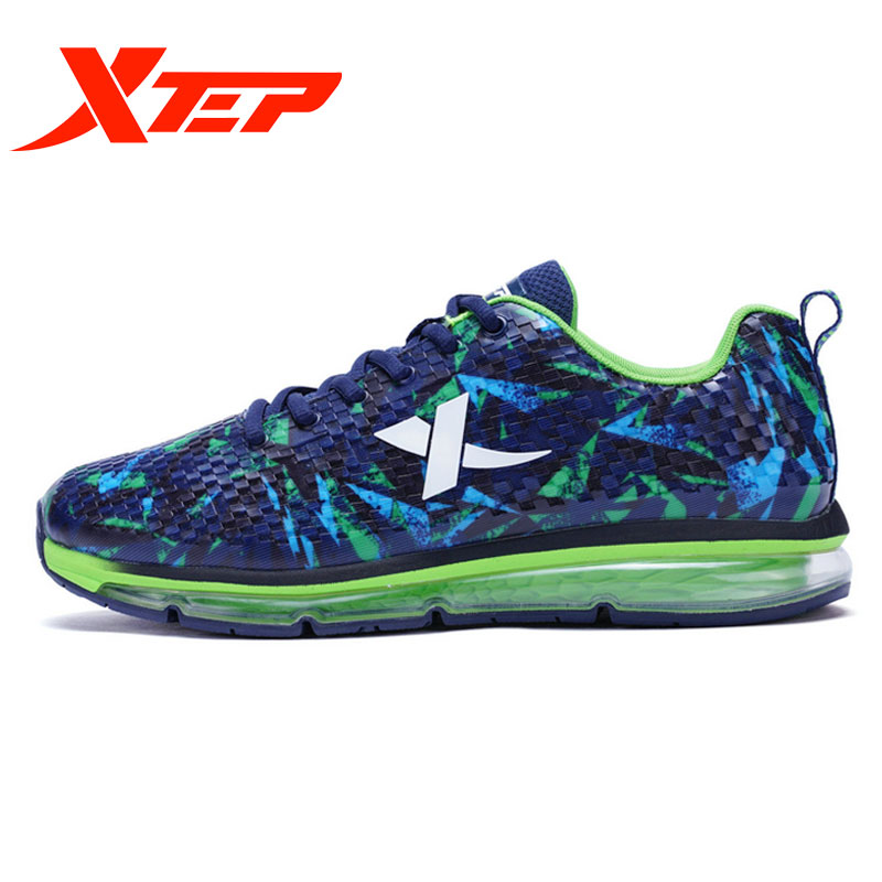 XTEP Spring Summer Running shoes man Sneakers mesh air cushion Breathable 983419119597 summer breathable air cushion fly line sports women running shoes shock absorption increase tourism shoes spring female sneakers