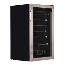 Smad 88L Stainless Steel Door Wine Refrigerator No Frost Cooling System Electric Wine Fridge Champagne Cooler Cellar