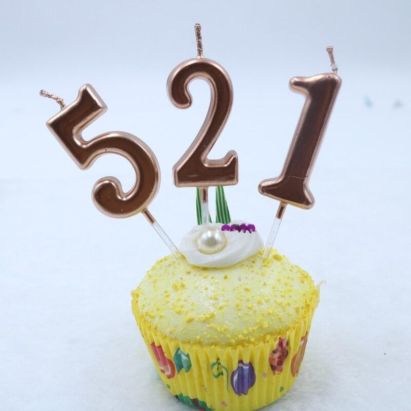 Age Birthday Candle Blue Pink Rainbow Cake Decoration