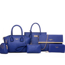 2016 Girls Handbags 6 PCS Set Women Bags Women Handbag Shoulder Bag Women Messenger Bags Tote