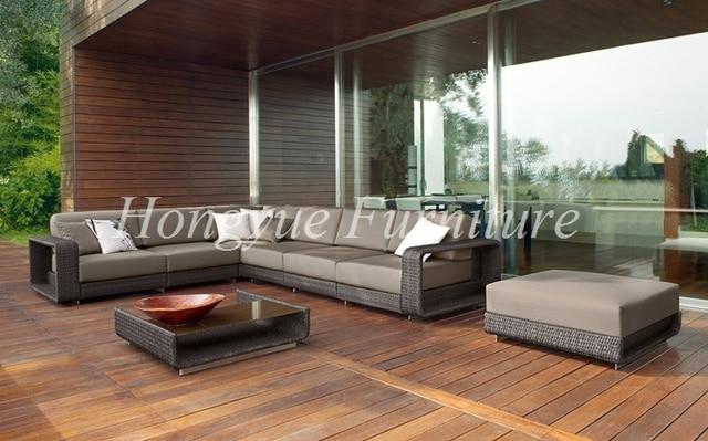 l shape outdoor rattan garden corner sofa set furniture - Rattan Garden Furniture L Shape