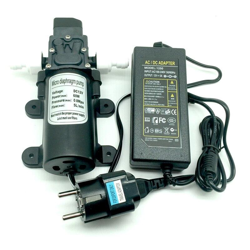 Ohne Markenzeichen DC 12V Motor Vakuumpumpen Micro-Membranfluss Pumper mit Arm-Blutdruck-Pumpping for Aquariumbeh/älter Sauerstoffpumpe
