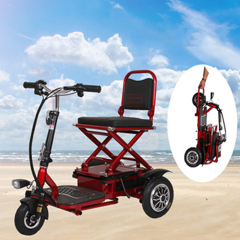Electric Scooter Trike Folding Lithium Battery Light  Mobility Wheel Citycoco Motorcycle for Elderly Disabled Tricycle Scooter tz yz 03 the old man electric tricycle scooter disabled scooter