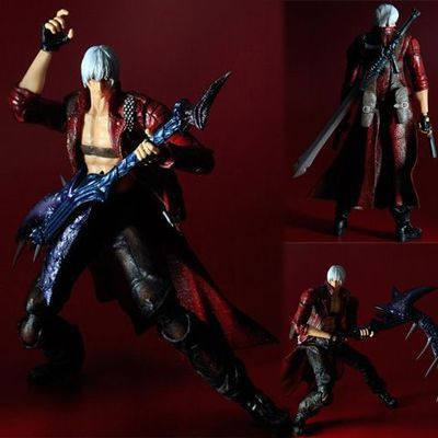 Play Arts Kai Devil May Cry 3 Dante Vergil Figure 26cm Variant Play Art KAI PVC Action Figure Toy Kid devil may cry 4 dante cosplay wig halloween party cosplay wigs free shipping