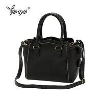 YBYT Brand 2017 New Simple Formal Solid Women Handbags Hotsale Ladies PU Leather Shopping Bag Shoulder