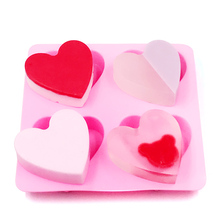 DIY soap silicone mold heart love Homemade Soap about 45 grams molds
