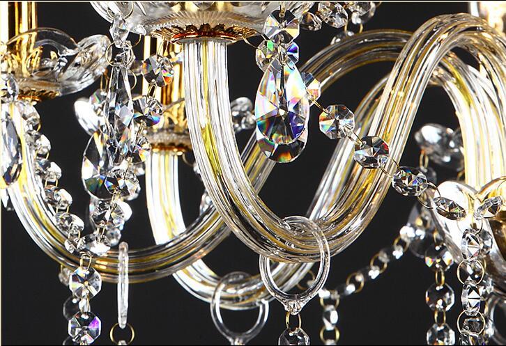 Անվճար առաքում 18 Arms 100% K9 Gold Crystal Luxury Big - Ներքին լուսավորություն - Լուսանկար 5