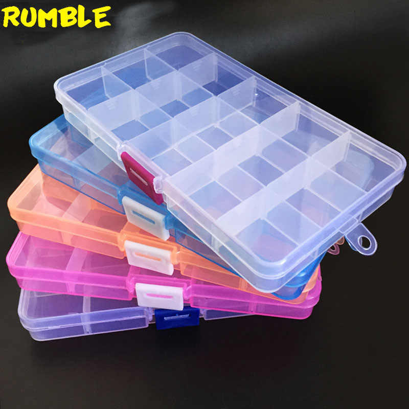 15 Grids DIY Tools Packaging Box Portable Practical Electronic Components Screw Removable Storage Screw Jewelry Tool Case New
