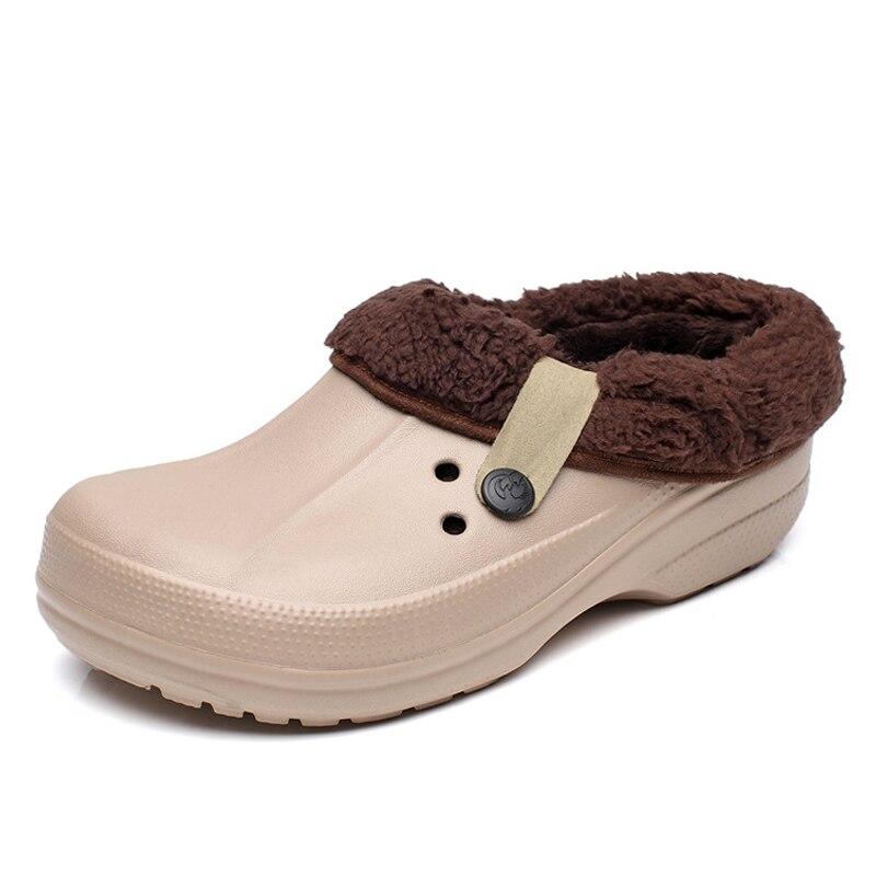 Frauen Winter Clogs Männer der Garten Schuhe EVA Wasserdichte Hausschuhe Clogs Für Männer Frauen Clog Mann Candy Farbe Warme 36-44