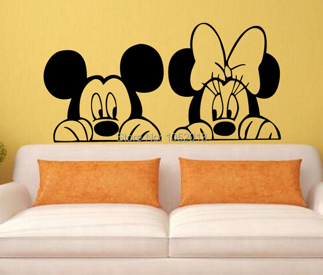 New Anime Cartoon Film Sticker Mickey Mouse Minnie Mouse TV ...