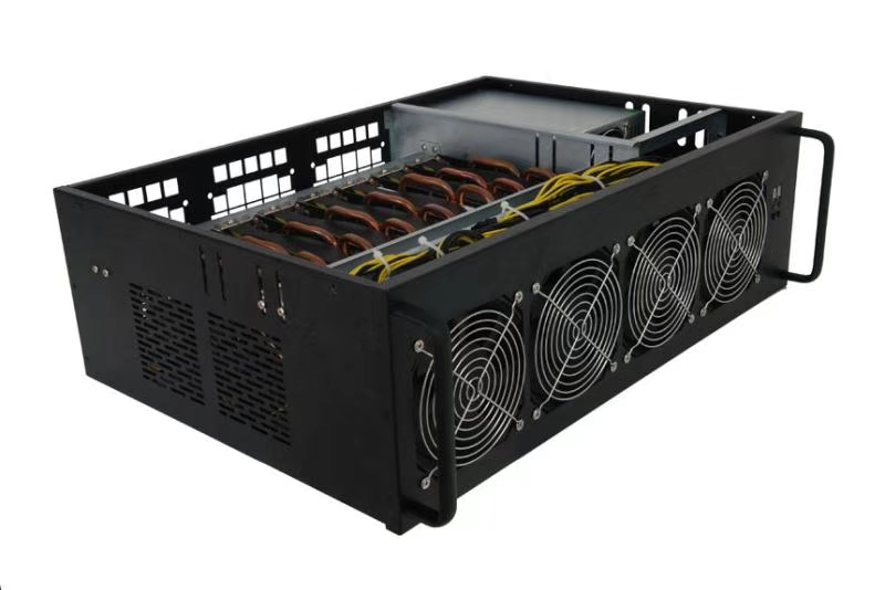 font b Bitcoin b font mining machine 3855 Skylake CPU 8 PCIe X16 Video Card