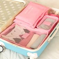 6pcs Set Waterproof Travel Storage Bag Set For Clothes Tidy Underwear Organizer Pouch Suitcase Home Closet