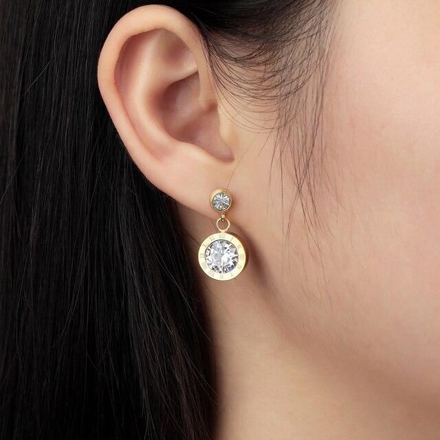 Модные брендовые ювелирные изделия высшего качества милые серьги