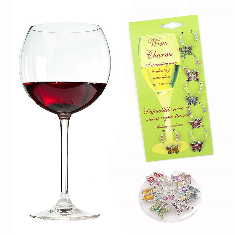 aliexpresscom buy 1 set christmas wine glass decoration charms party new year cup ring table decorations xmas pendants metal ring decor from reliable - Christmas Wine Charms