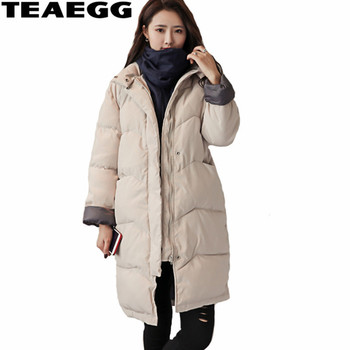 TEAEGG Mid Long Woman Winter Coats And Jackets Parkas Mujer Invierno 2020 Parka Warm Winter Coat Women Outerwear Clothing AL384