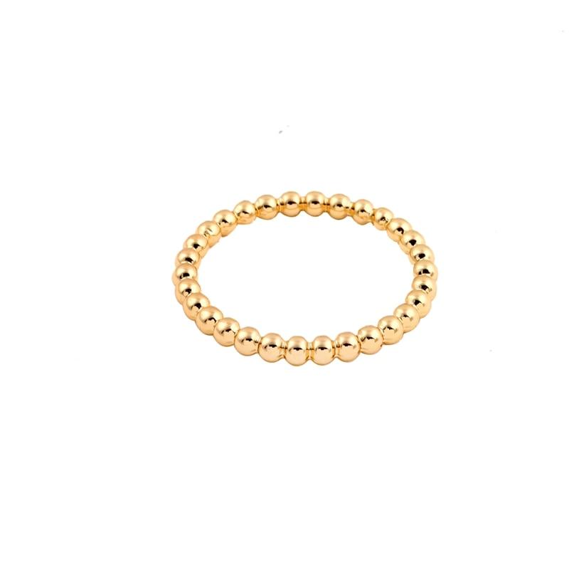 Hfarich Neue Gold Slim Stapeln Perlen Ringe für Frauen Volle Perle ...