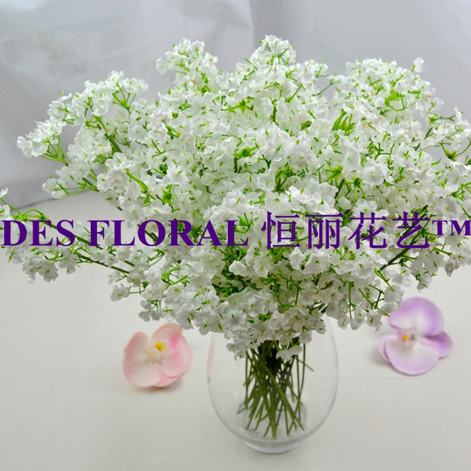 Decorative Flowers Artificial Gypsophila Silk Baby Breath