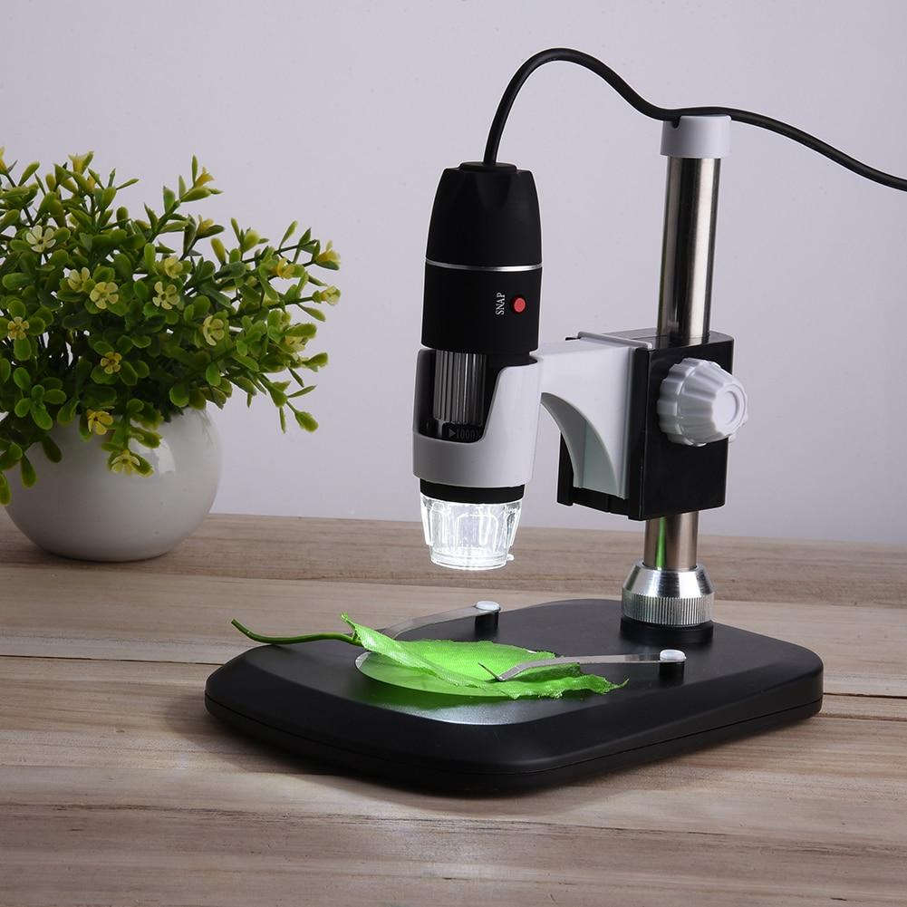 ANENG 1000X Elettronico Digitale Microscopio Usb Professionale di Montaggio + Pinzette 8 LED Ingrandimento Misura Con Il Supporto