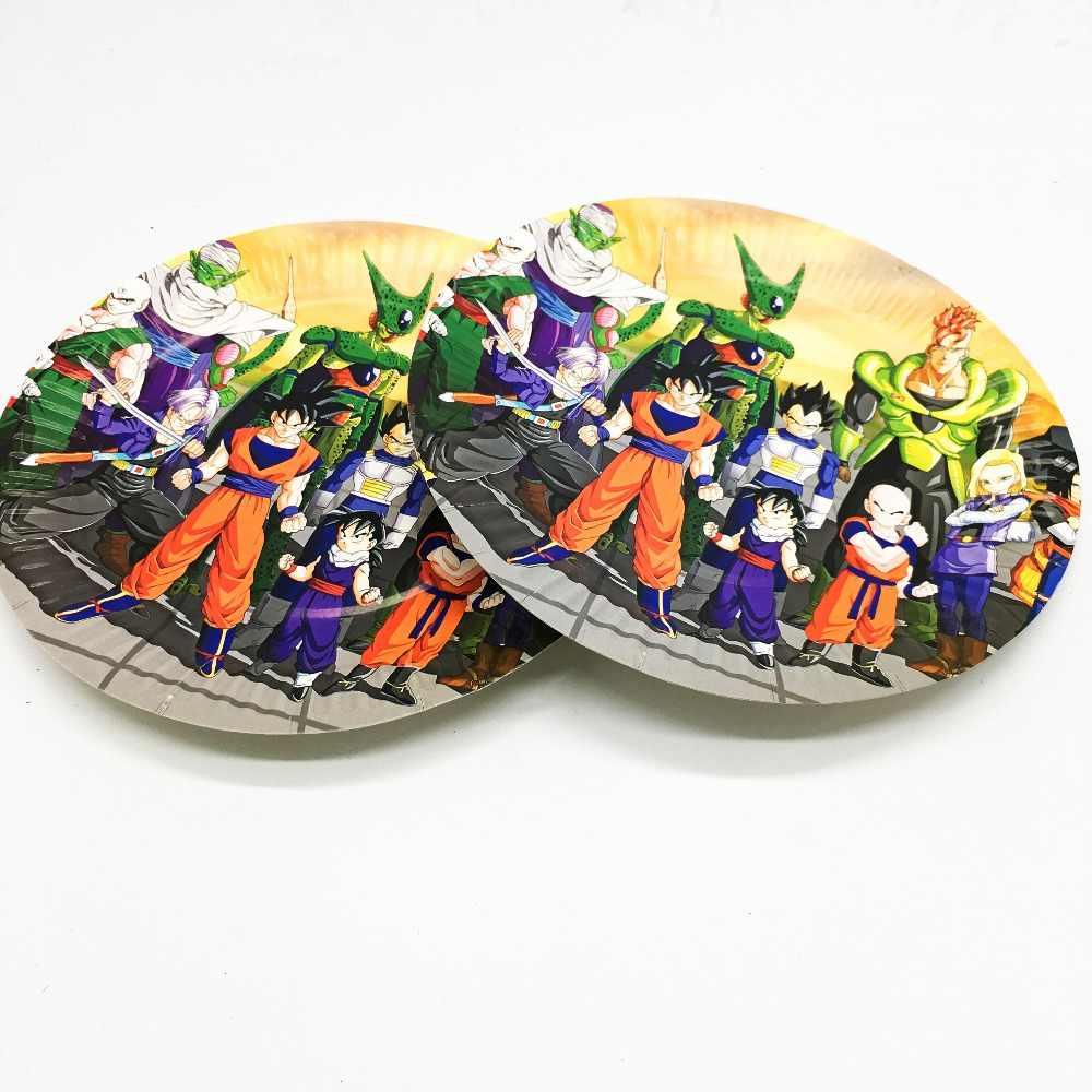 10 pçs/lote Anime Dragon Ball pratos descartáveis tema fontes do partido de aniversário do Anime Dragon Ball Dragão pratos de papel descartáveis