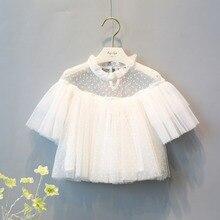 Mode enfants Roupas filles bébé infantile enfants maille dentelle fée hauts poupée Blouse t – shirt S2594