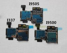 Original SIM and SD Card Rear Contact Memory Card reader,Sim Card Socket Sim Reader For Samsung S4 SIV GT-I9505 9500 337 9508V