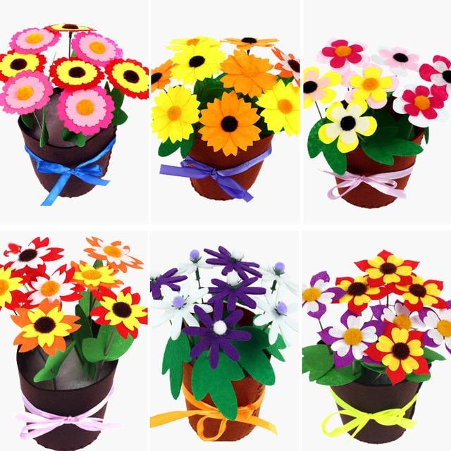 Juguetes para niños manualidades niños DIY maceta planta en maceta jardín de infantes aprendizaje educación juguetes Montessori enseñanza juguete