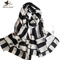 Black and White Geometric Striped Scarves and Wraps for Women Brand Design Scarf and Shawls Ladies Oversized Long Foulard