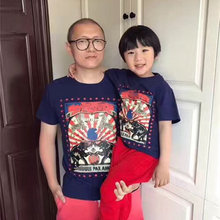 2017 Baby Kids Clothes Family Look T shirts Summer Animal Pattern Cotton Family t shirts Father