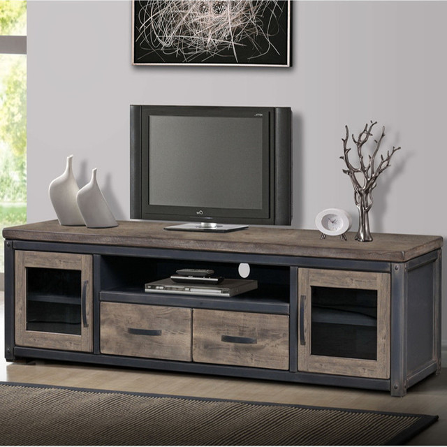 Well known American country to do the old retro loft iron wood TV cabinet TV  OX06
