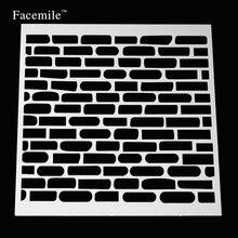 Facemile Free Shipping 13cm*13cm Plastic Stencils For DIY Scrapbooking Photo Album Decorative Craft Stencil Tool For Album Card