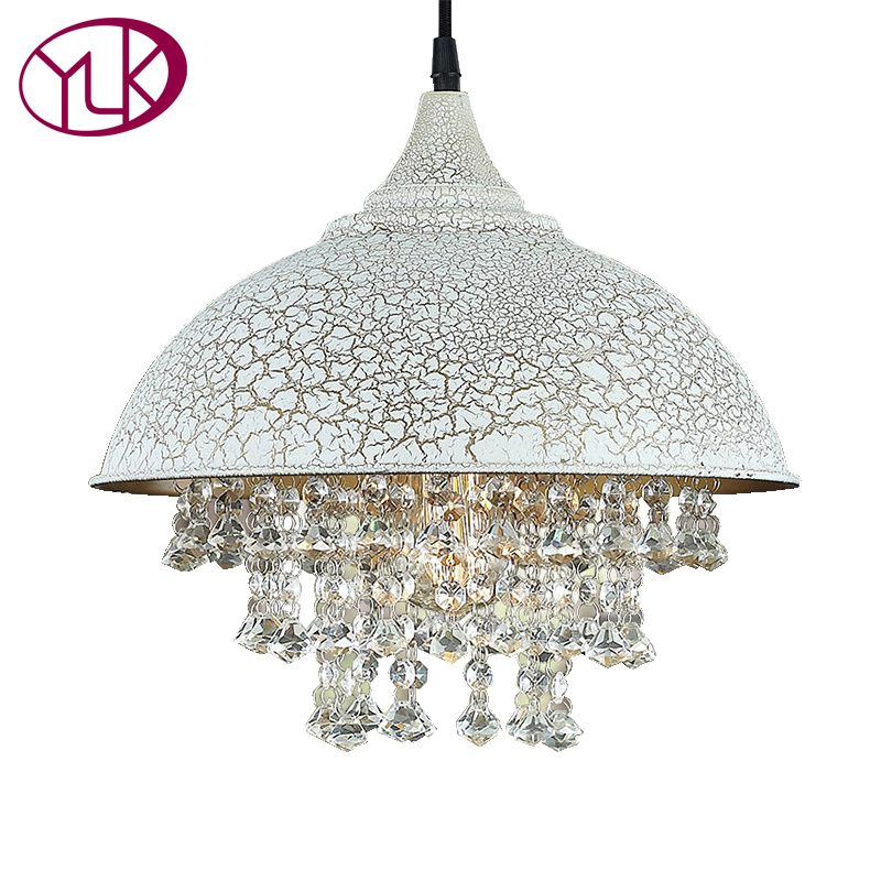 Youlaike Modern LED Pendant Light For Kitchen Dining Room Living Room Crack White Hanging Lighting Fixtures