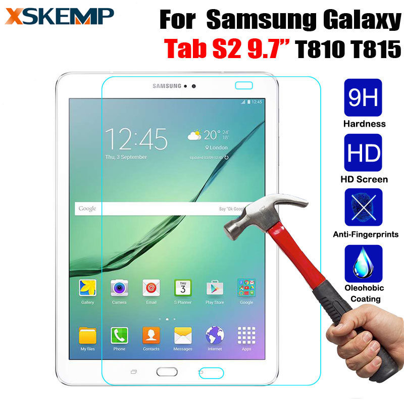 High quality LCD Tempered Glass For Samsung Galaxy Tab S2 9.7 T810 T815 Explosion-Proof Screen Protector Protective Guard FilmHigh quality LCD Tempered Glass For Samsung Galaxy Tab S2 9.7 T810 T815 Explosion-Proof Screen Protector Protective Guard Film