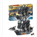 Negro Perla Piratas del Caribe barco KY87010 KAIZI Building Blocks ladrillos autoblocante juguetes De Junta 1184 unids conjunto regalo