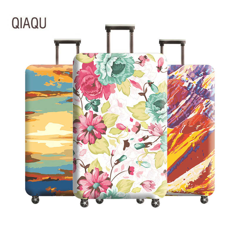 QIAQU Luggage Thickened Suitcase Elastic Protective Cover for18-32 Inch Trolley Baggage Dust Case Cover Travel Accessories