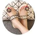 2017 Summer slippers women pantoufle femme terlik flip flops fashion paillette Bohemia Flat Sandals Female beads Rhinestone