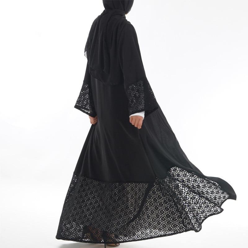 Malaysia Dubai outfit dress Muslim black plain abaya for woman